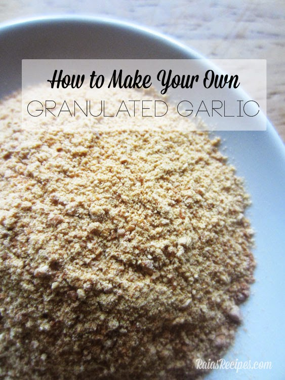 DIY Granulated Garlic, shared by Whole New Mom