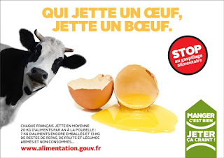 affiche campagne contre le gaspillage alimentaire