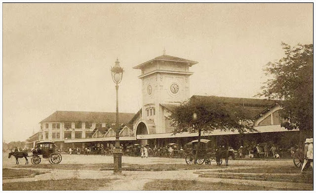 Ben Thanh Market Ho Chi Minh city in the past