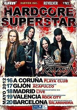 Gira por España de Hardcore Superstar en Mayo