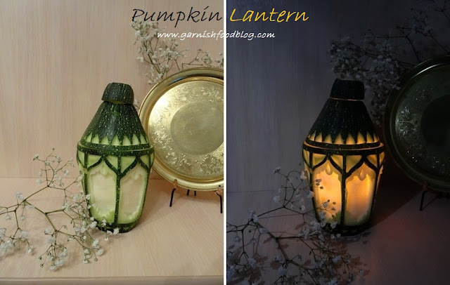 pumpkin lantern for garden