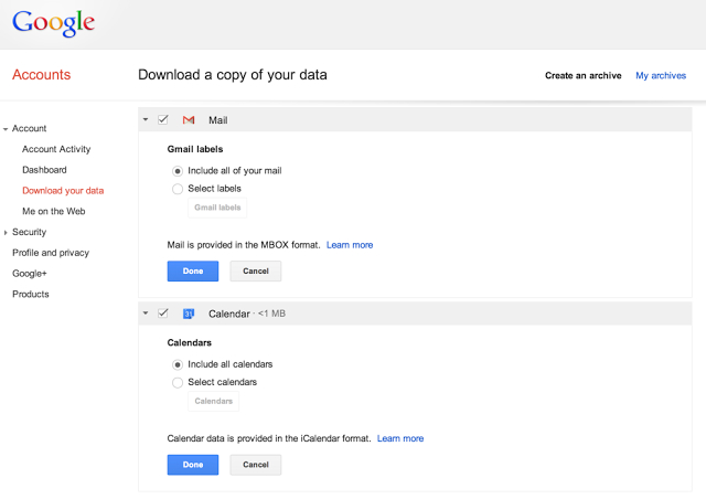 Google Calendar di Gmail Kini Dapat Didownload Via Google Takeout