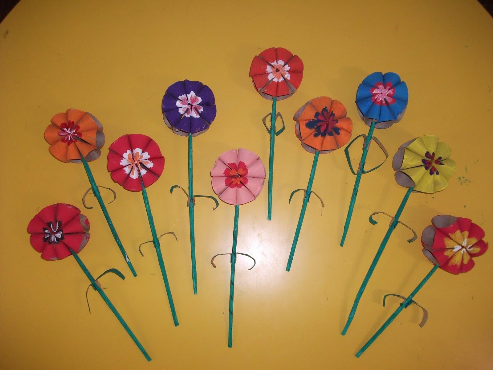 Flores Em Rolos De Papel Higi Nico