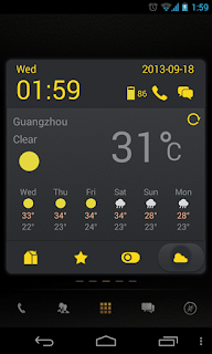 Screenshots of the Dark Yellow Toucher Pro for Android mobile, tablet, and Smartphone.
