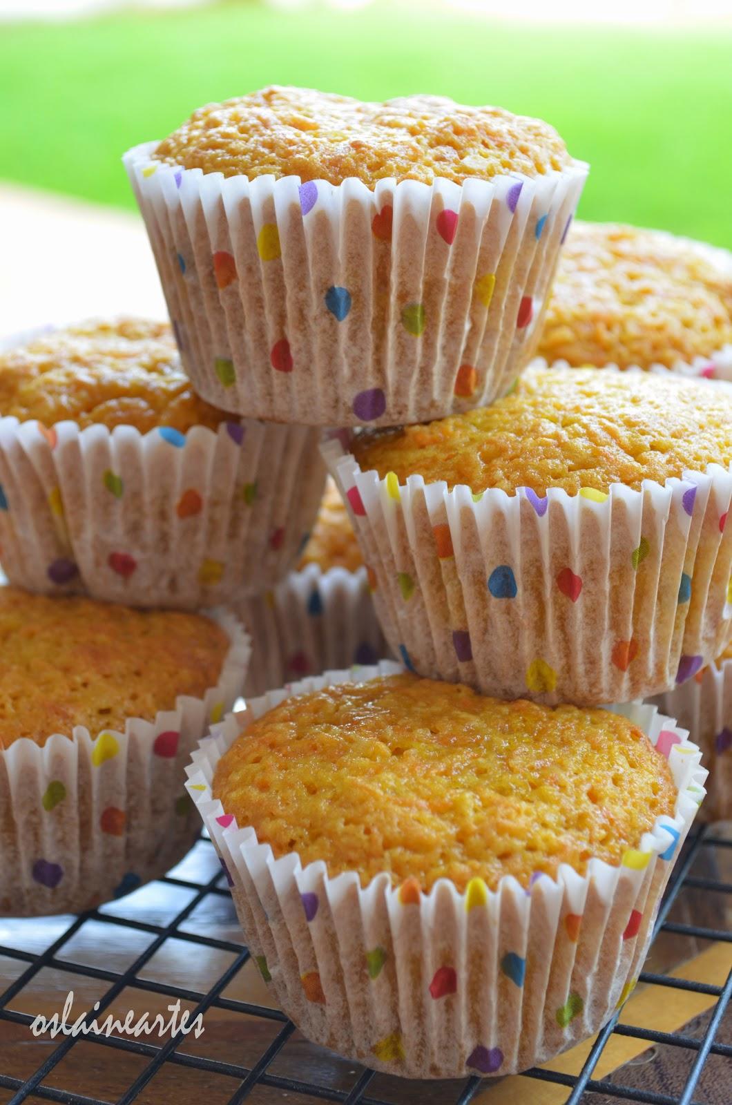 Muffins de Cenoura e Coco