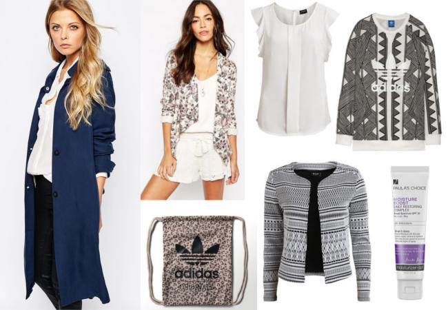 Glamour Shopping Week Online Choices, Glamour Shopping Card, Rabatte Glamour Shopping Week, blauer Trenchcoat, Boho Style Jacken, Ethno Print, Leo Print