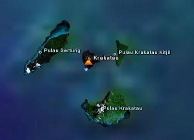 Ubicación volcán Krakatoa