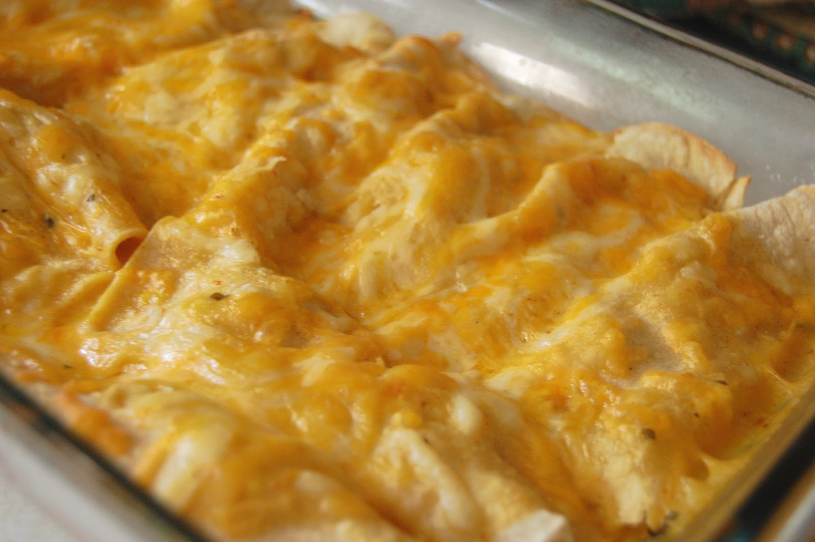 TABLE for SEVEN: Cheesy Chicken Enchiladas