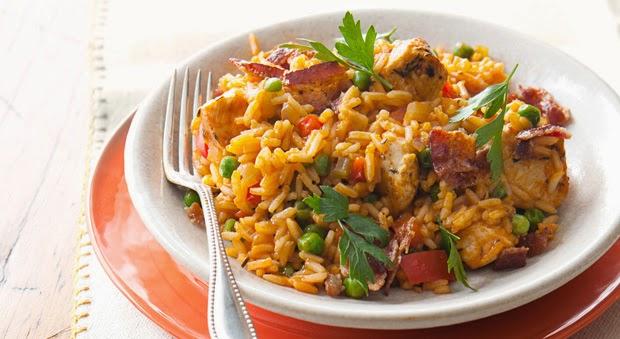 arroz, azafrán, Cajun, pollo, receta, recetas caseras, recetas saludables
