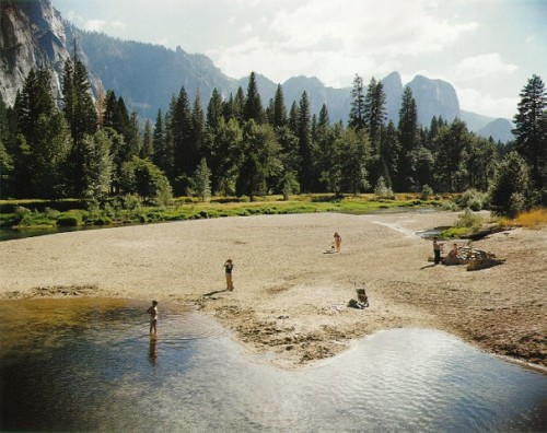 masters of photography : Stephen Shore : photo of people at lake