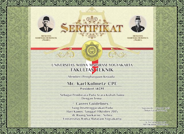 Seminar Certificate UWMY, sertifikat Universitas Widya Mataram yogyakarta, UWMY