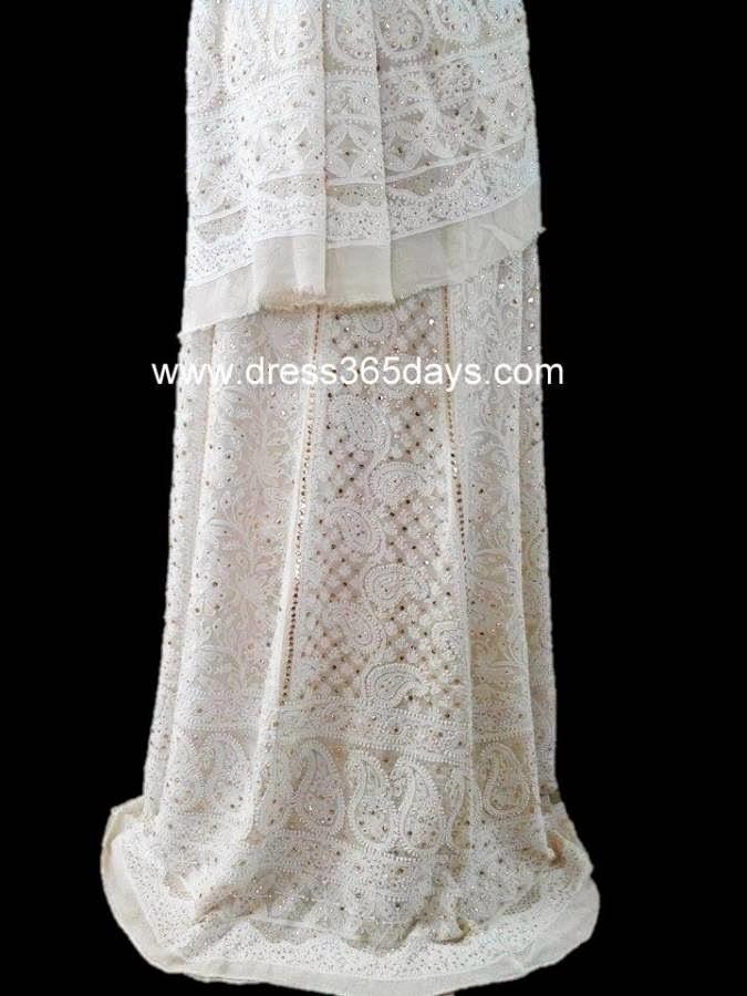 Bridal Wedding Lehenga (Chikankari Embroidery)
