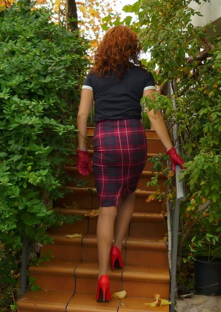 falda lapiz cuadros