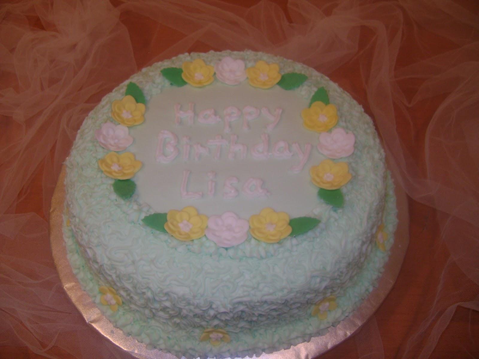 Marilyns Caribbean Cakes Happy Birthday Lisa