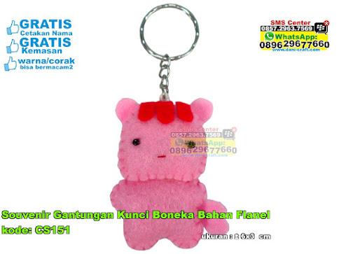 Souvenir Gantungan Kunci Boneka Bahan Flanel