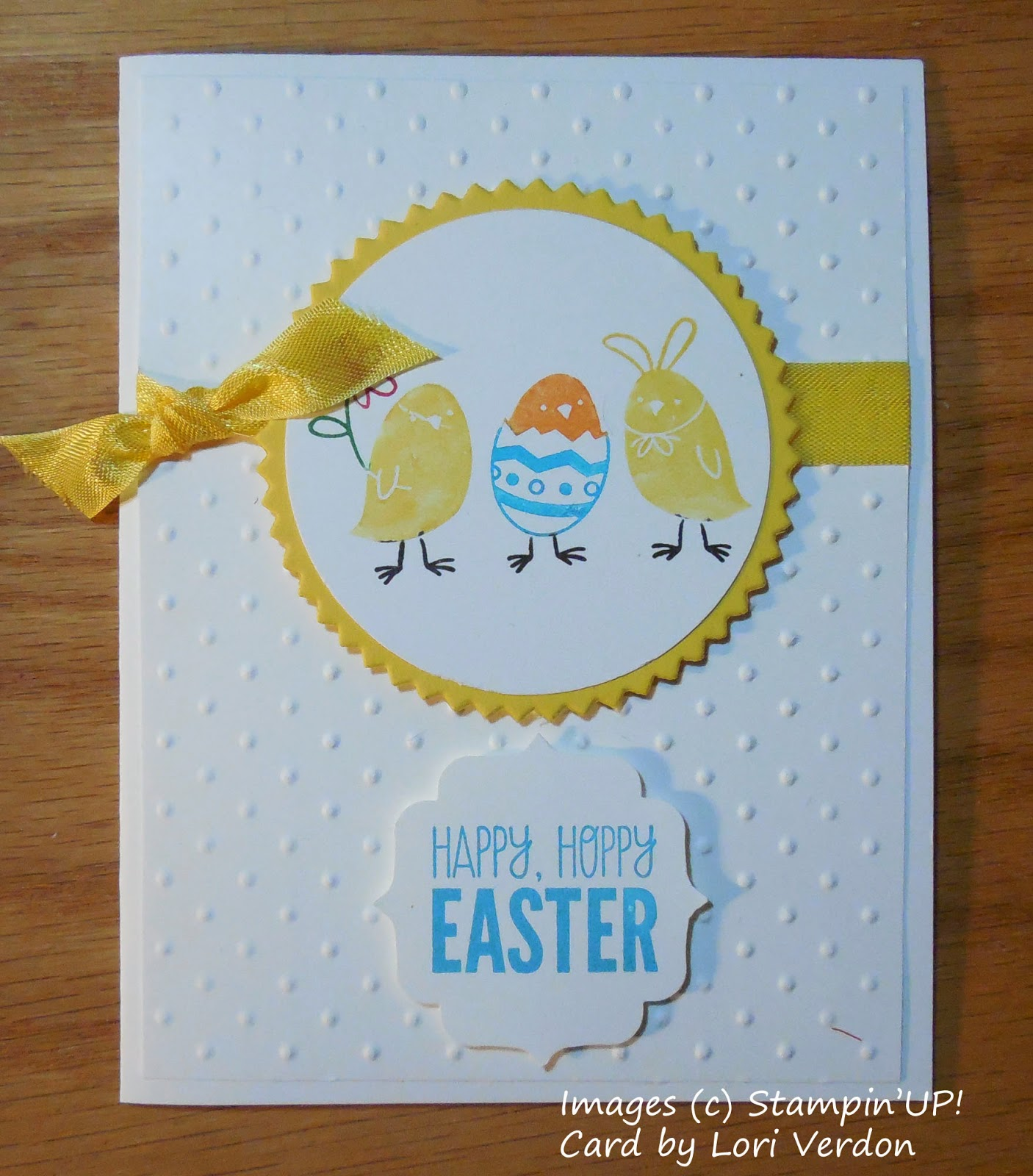 Easter Card made with Stampin'UP!'s For Peep's Sake