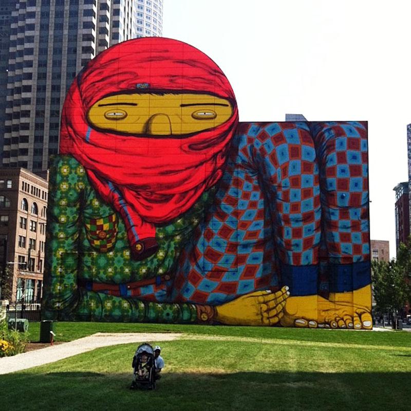 Os gemeos new mural in boston usa streetartnews for Boston wall mural