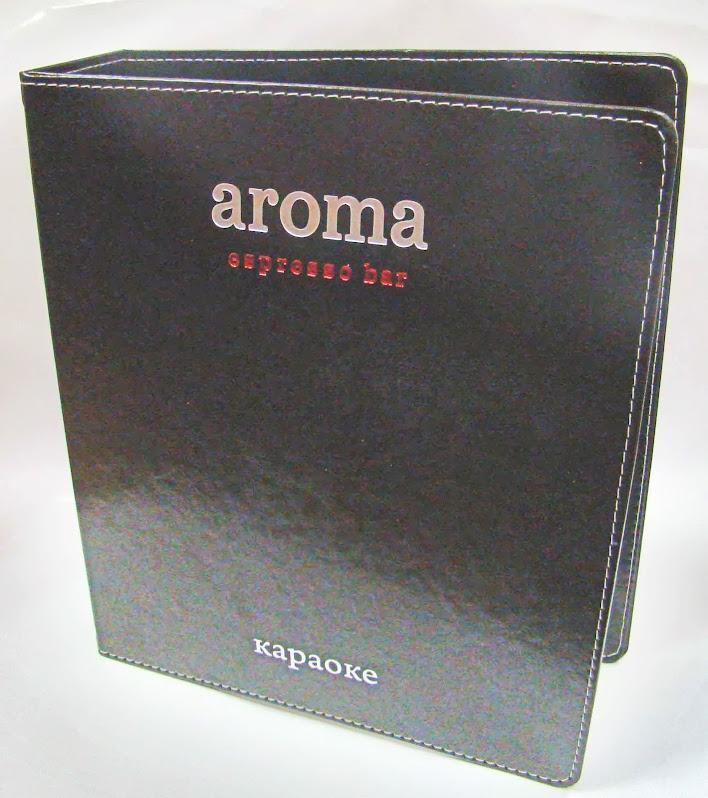 АРОМА-БАР. Папка для караоке из искусственной кожи
