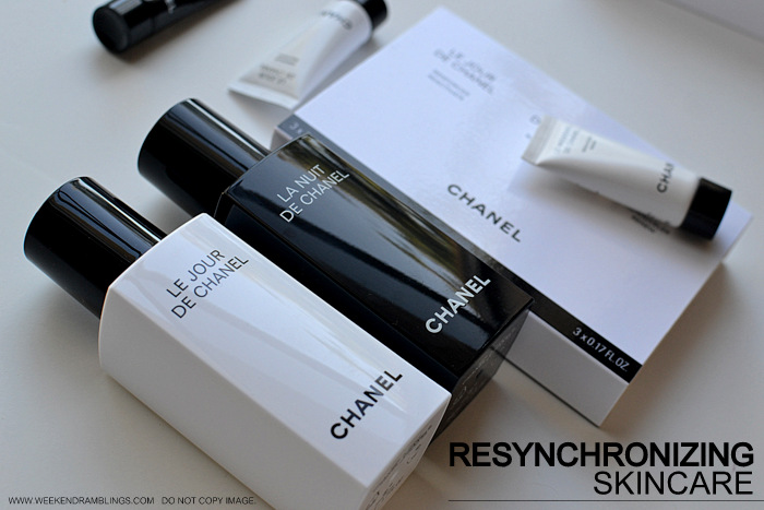 Chanel Resynchronizing Skincare Antiaging Collection - Le Jour - La Nuit - Le Weekend de Chanel - Review