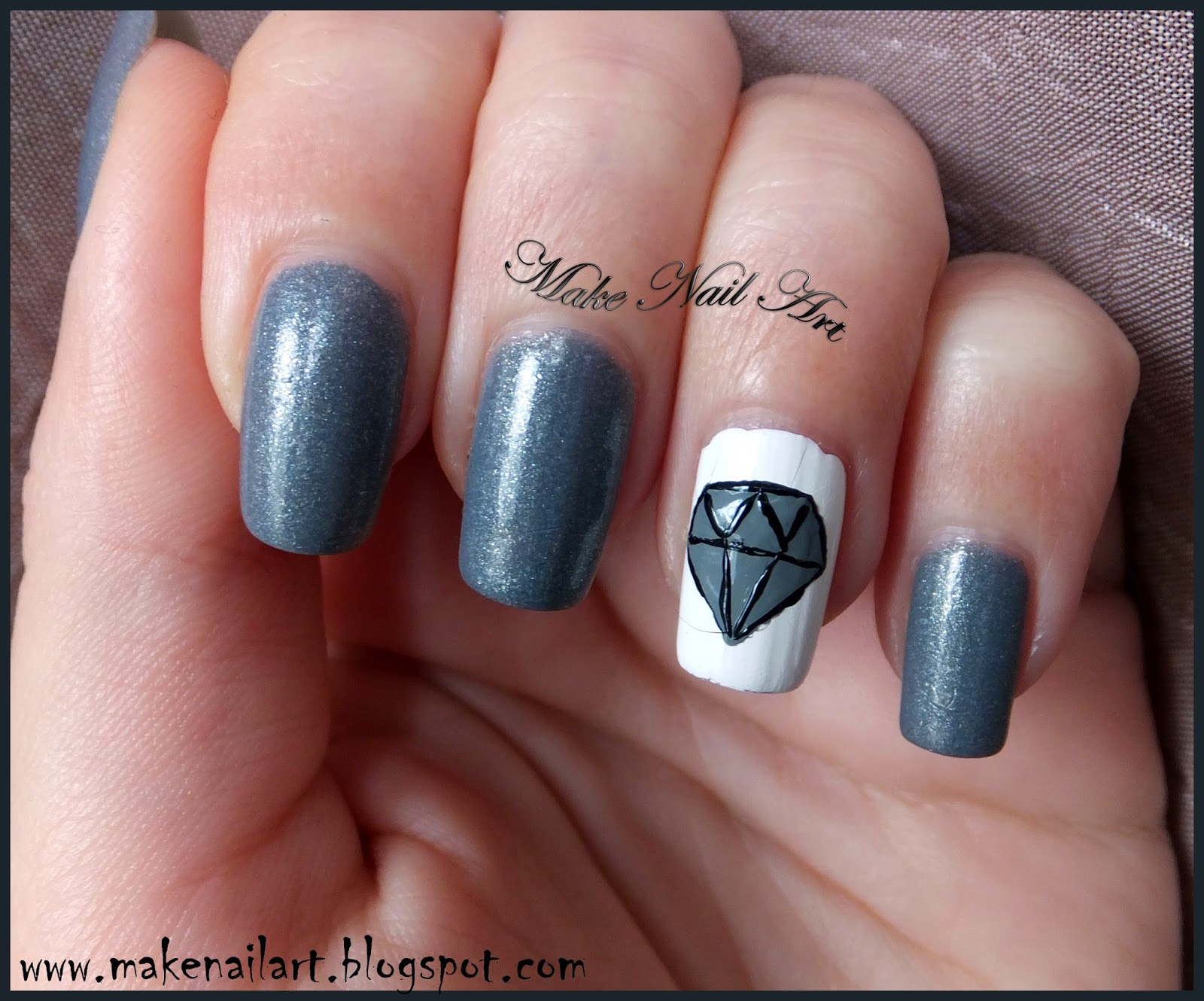 Make Nail Art: Diamond Nail Art Tutorial