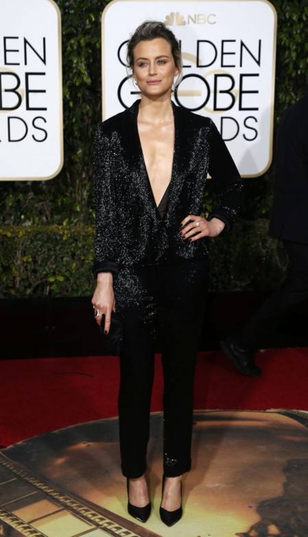 Taylor Schelling en los Golden Globes, enero 2016