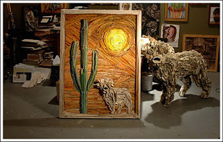 Nick Georgiou menciptakan Karya Seni ini dari menjahit dan melipat