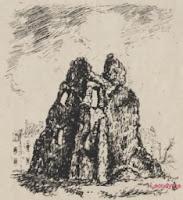 De tot puin herleide Nieuwpoortse tempelierstoren tijdens 1914-1918