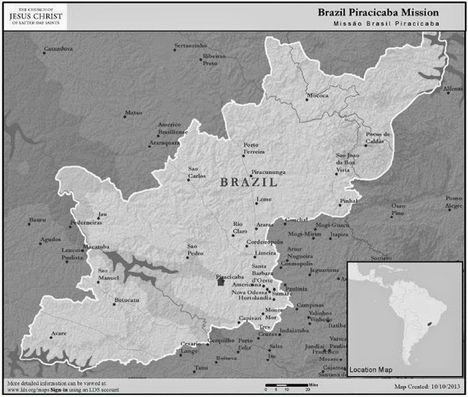 Piracicaba Mission Map