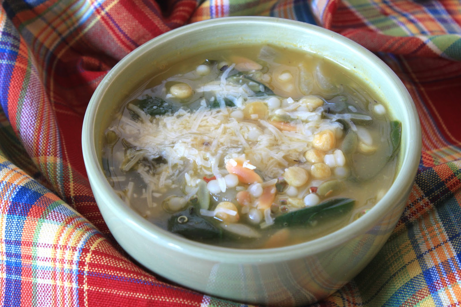 israeli couscous, lemon, and spinach soup - greens & chocolate