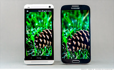 Samsung Galaxy S4 VS HTC One Display