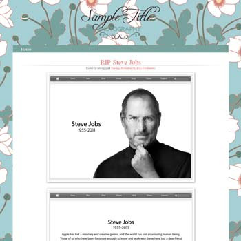 Floral Photoblog blogger template. cute design blogger template. download blogger template for photo