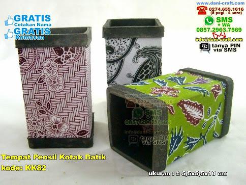 Tempat Pensil Kotak Batik Karton Kain Batik
