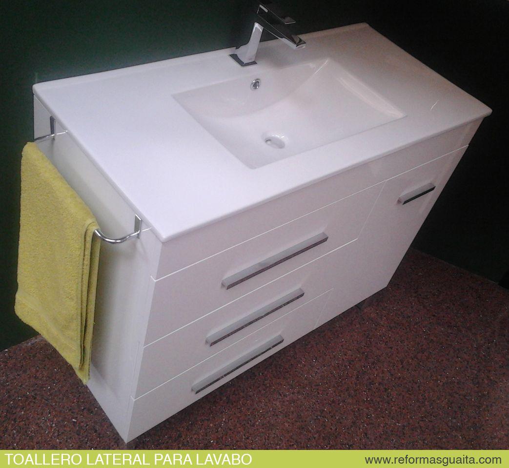 Toallero lateral para lavabo mueble ba o reformas guaita - Muebles de bano en esquina ...