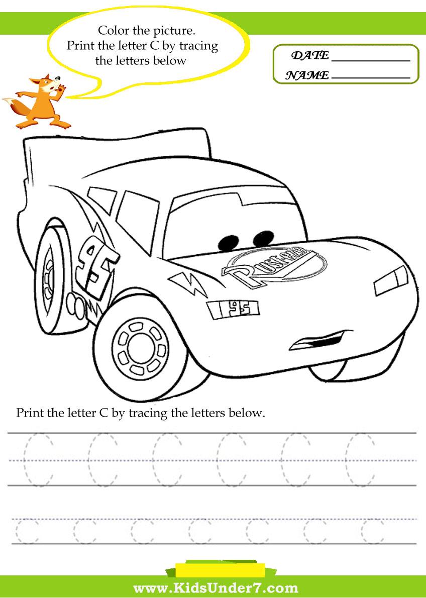 kids under 7 alphabet worksheets trace and print letter с
