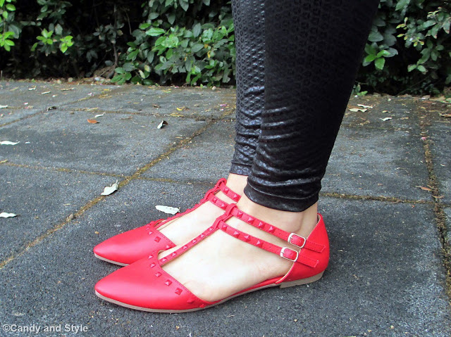 Red Pointed Flats