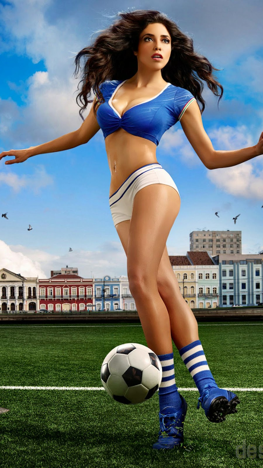 ACTRESS HOT IMAGES: Fifa 2014 girls hot, painted soccer girls 2014