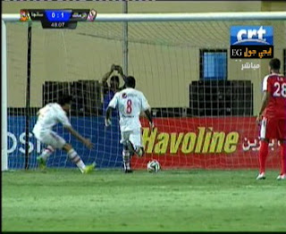 اهداف مباراة الزمالك وسانجا |  7-6-2015 كأس الاتحاد الافريقى خالد قمر يسجل الثالث