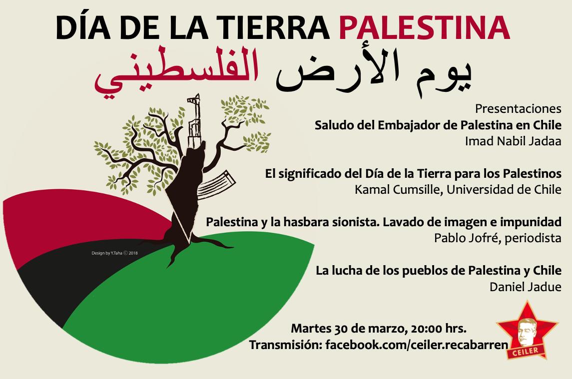 DIA DE LA TIERRA PALESTINA - INVITACIÓN CEILER