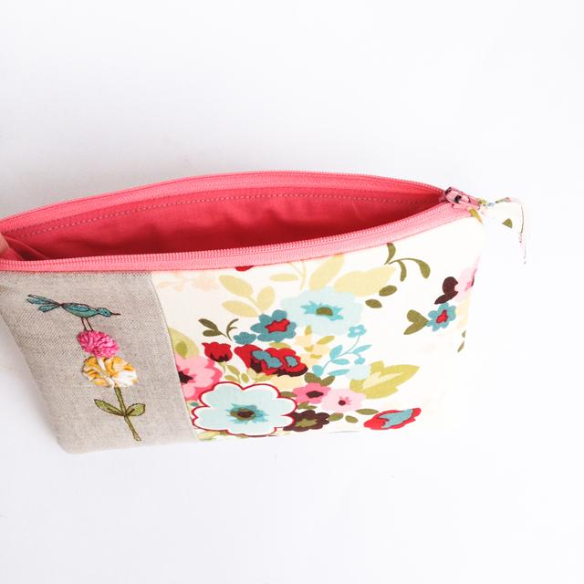 Custom Made Floral Wedding Clutch