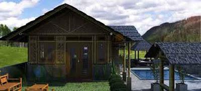 Desain Rumah Bambu Antik 06