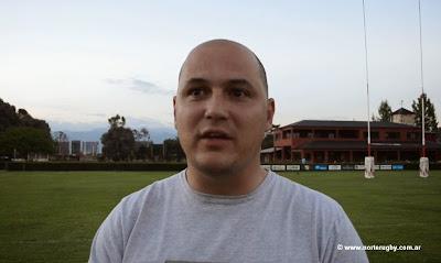 Marco Andrés Espinassi, entrenador del seleccionado mayor de la Unión Jujeña de Rugby