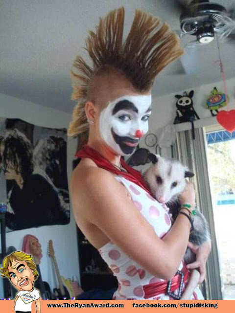 Awesome Mohawk but whats with the possum