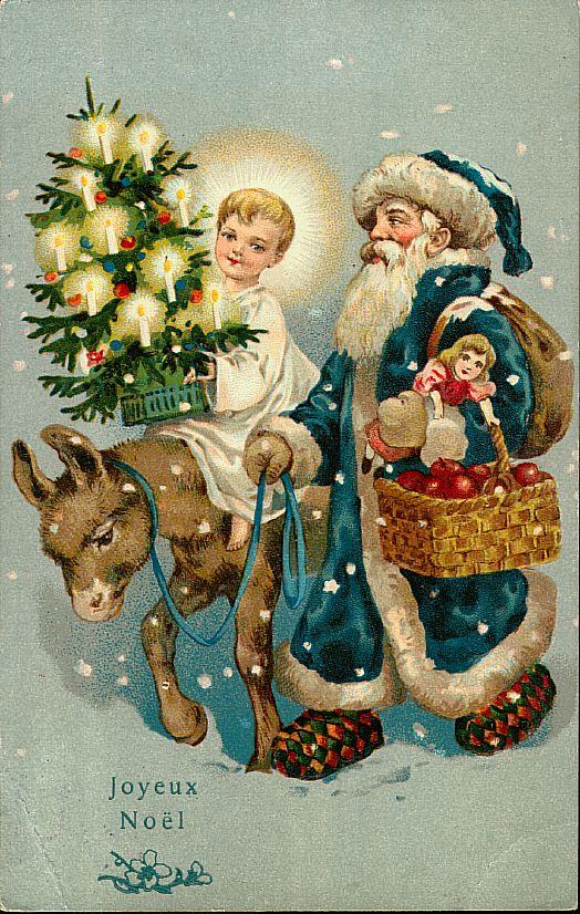 Старинные новогодние открытки винтаж с животными 75
