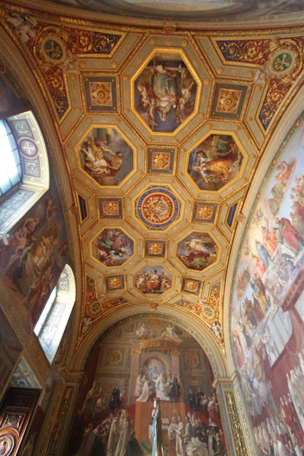 The art work from Sala Dell's Immacolata in Vatican Museum, Vatican City, Rome, Italy