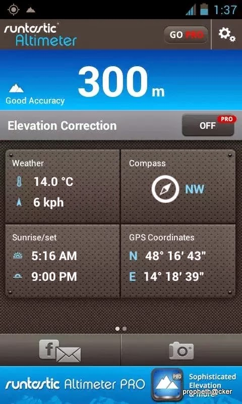 Calculate CoOrdinates And Altitude From The Sea Level Using An - Above sea level calculator