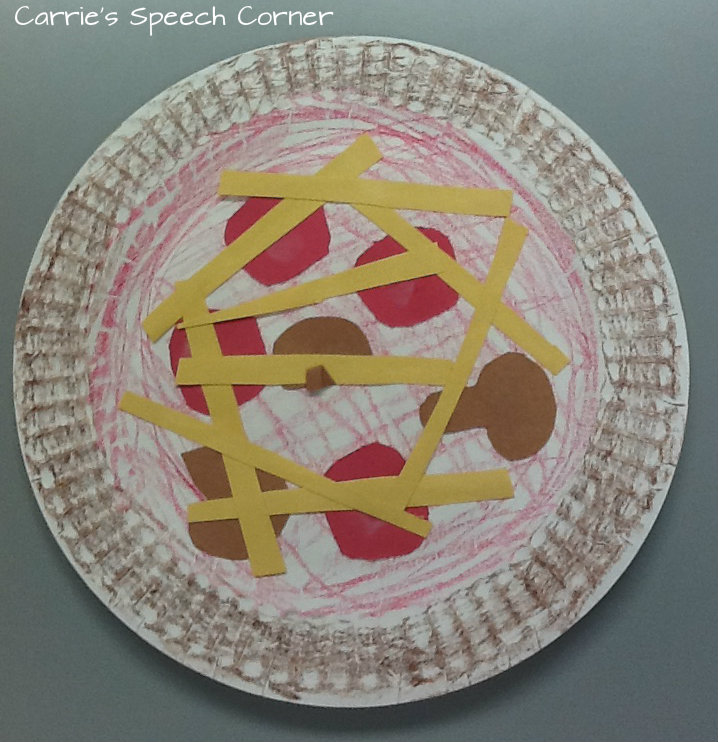I give each child a paper plate and ask them to remember the steps of making a pizza. We talk about the fact that the dough becomes the crust and once they ... & Carrieu0027s Speech Corner: Book of the Week: Curious George and the Pizza