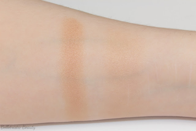 Chanel Dentelle Précieuse Illuminating Powder swatches, Nordstrom Exclusive, Summer 2014 in studio lighting with forced flash