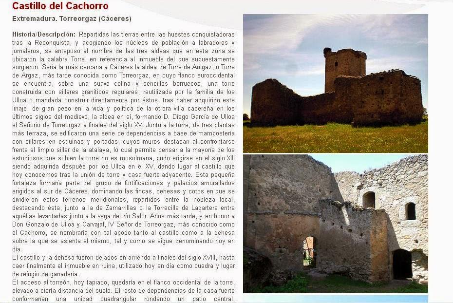 Lista Roja del Patrimonio: Castillo del Cachorro (Torreorgaz)