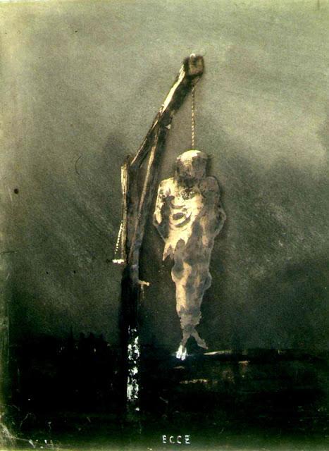 Victor Hugo, l'exposition: Les arcs-en-ciel du noir, Le Pendu