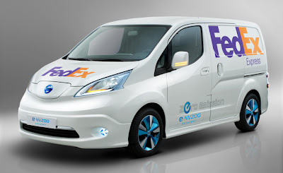e-nv200, env200, Battery electric vehicle, Nissan Motors, Electric vehicle, FedEx, FedEx Express, Nissan